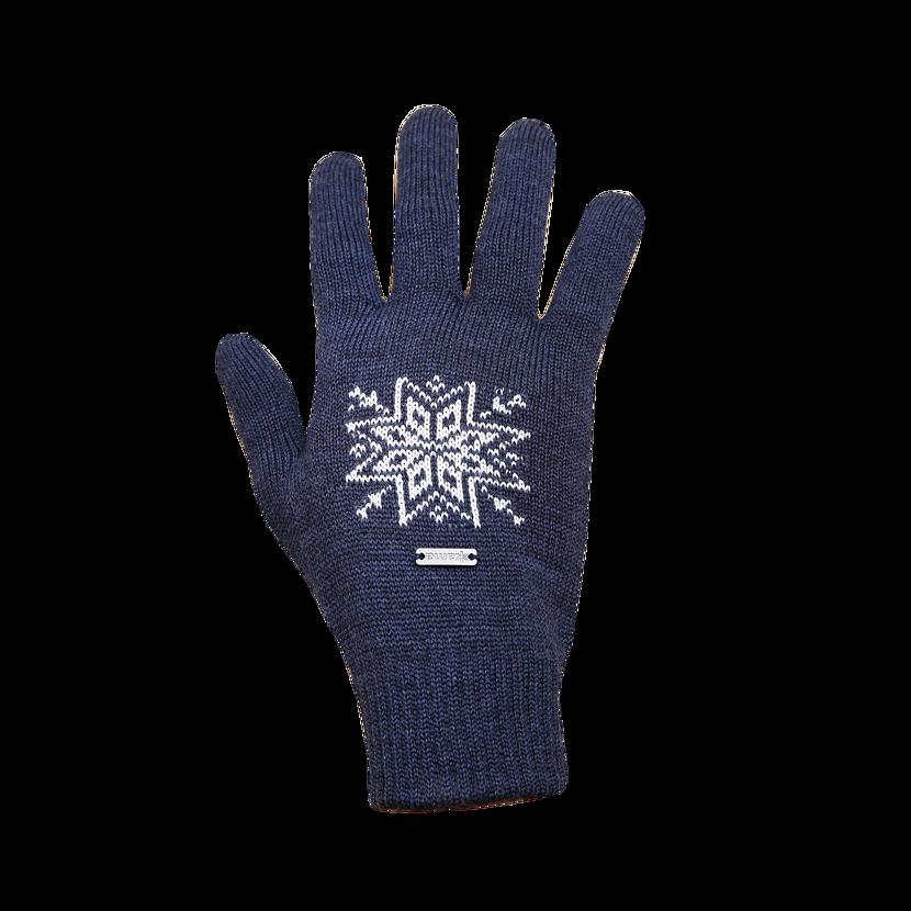 Pletené rukavice Merino Kama R104 tmavomodrá