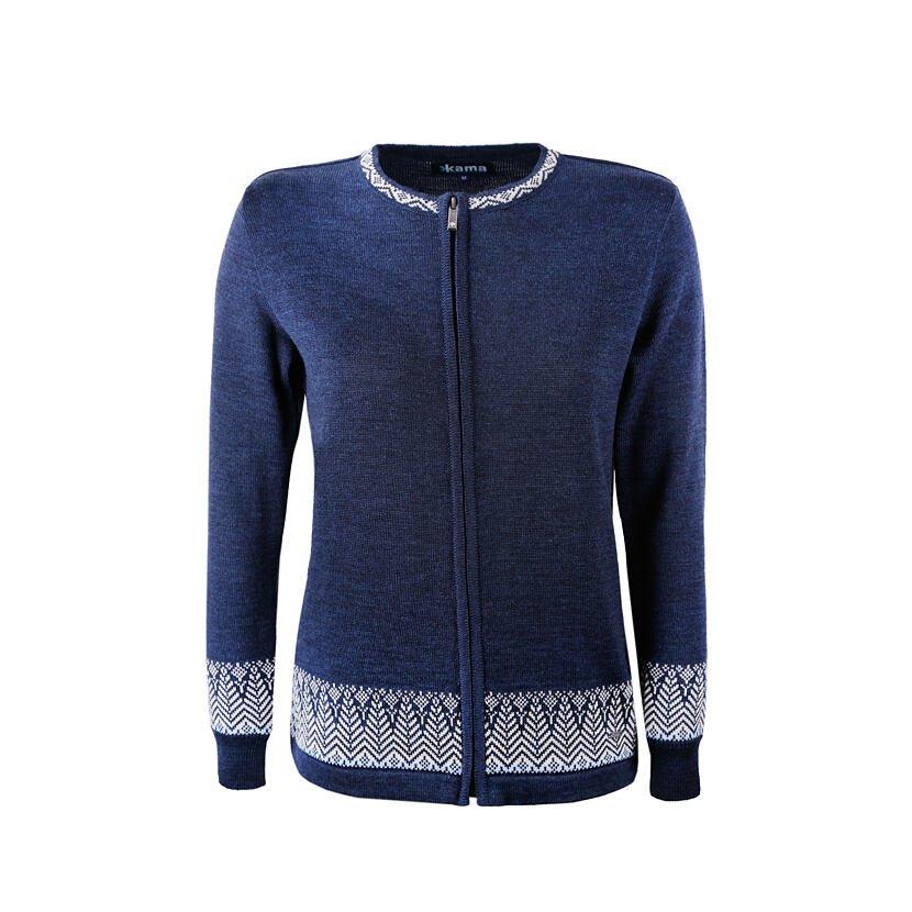 Dámsky pletený sveter Merino Kama 5023 tmavomodrá
