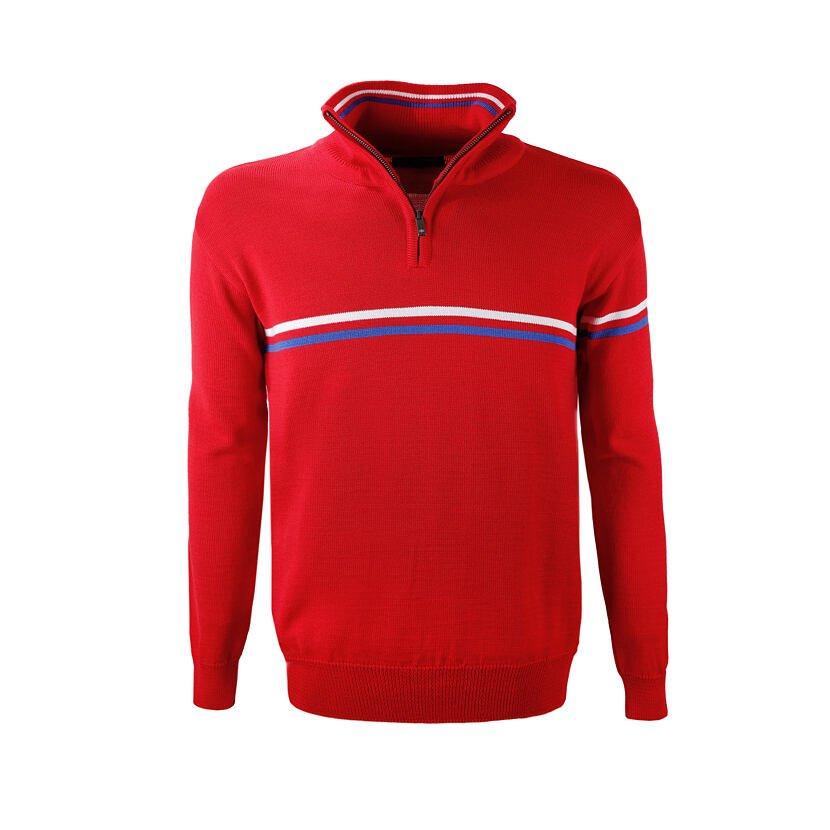 Pánsky pletený sveter Merino Kama 4056 Červená