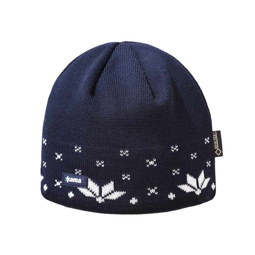 Knitted Merino hat KAMA AG21 - Dark Blue / Navy