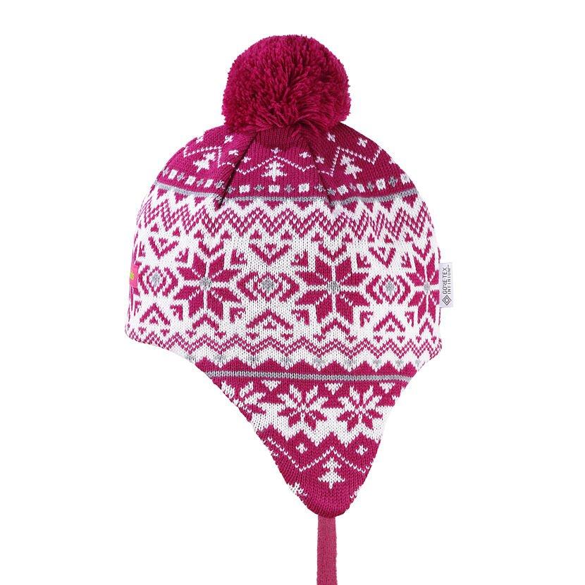 Detská pletená čiapka Merino Kama BW22 Ružová