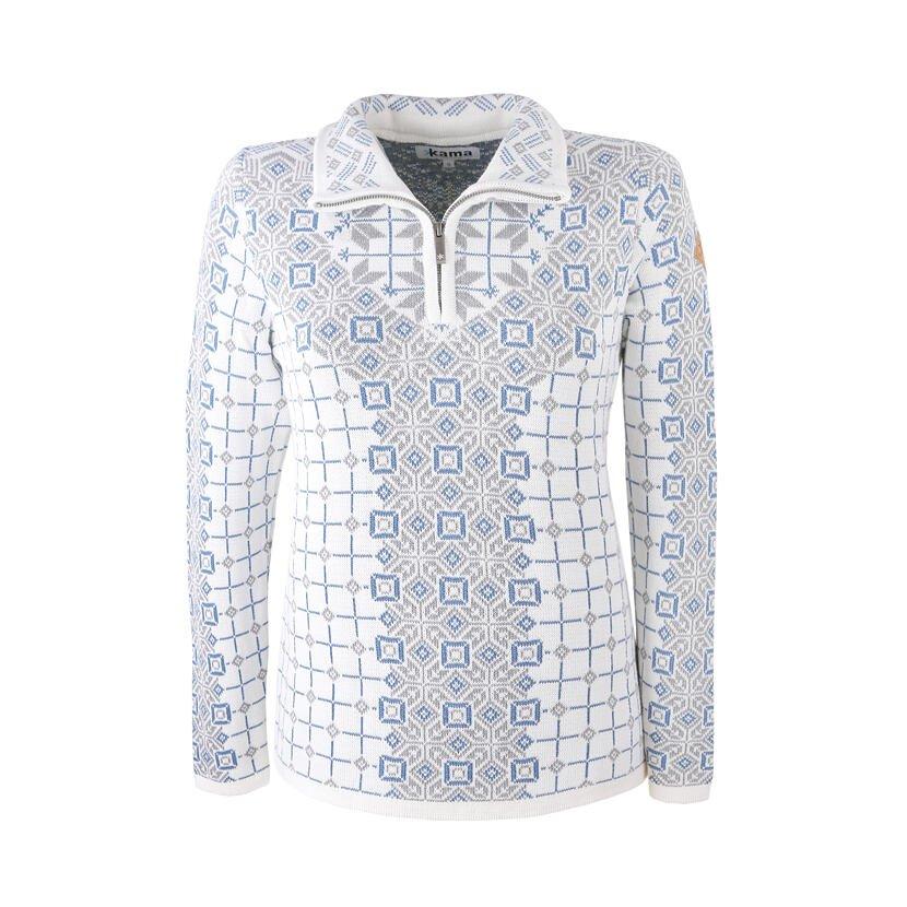 Dámsky pletený sveter Merino Kama 5026 prírodnábiela