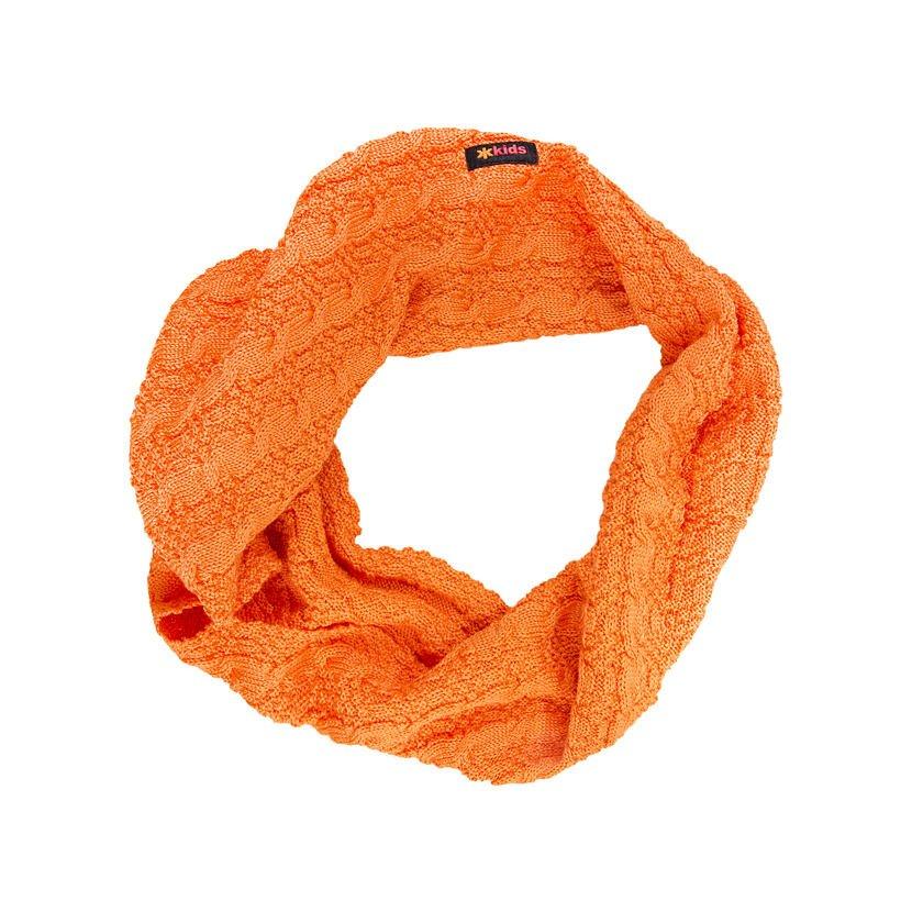 Dětský pletený Merino nákrčník SB12 oranžová