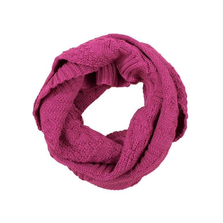 Knitted scarf/neck warmer merino KAMA  Pink