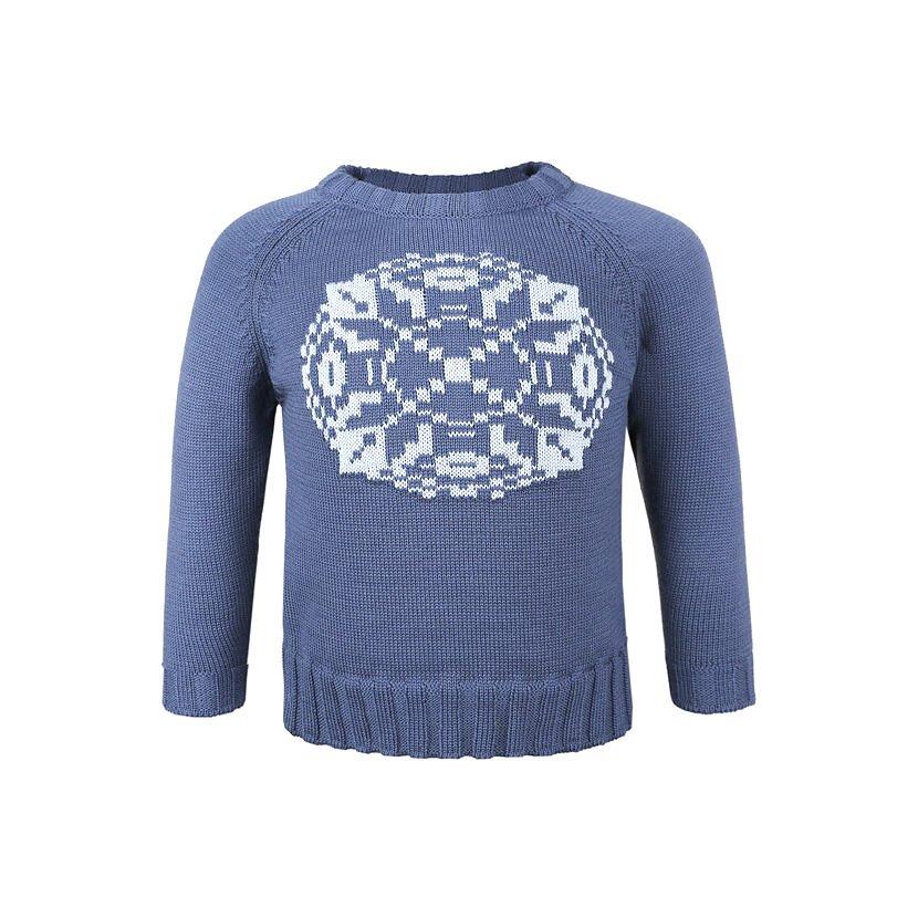 Pulover tricotat Merino pentru copii Kama 1014