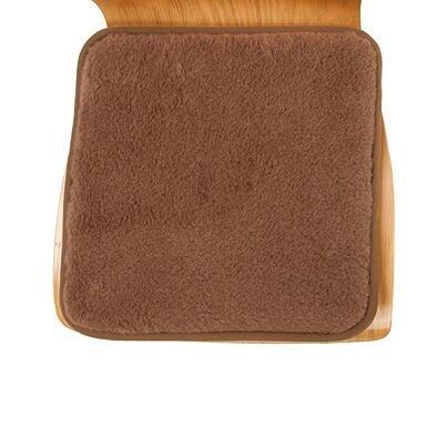 Wool seat cushion -  Brown