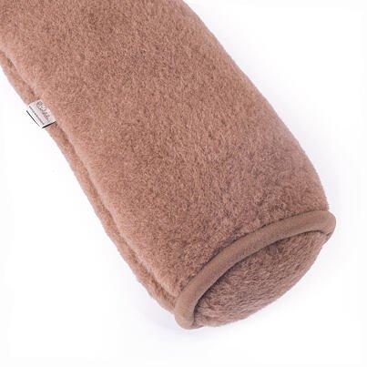 Henger párna birka gyapjúból - barna