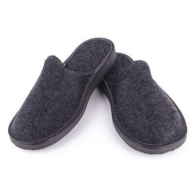 Pánske filcové papuče Čierna