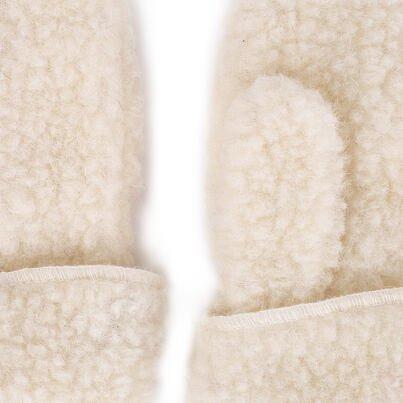 Detské vlnené palčiaky so šnúrkou prírodná