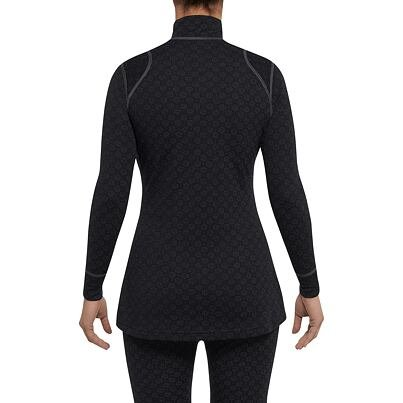 Women's Functional Merino Shirt with zipper XTREME THERMOWAVE -  Black