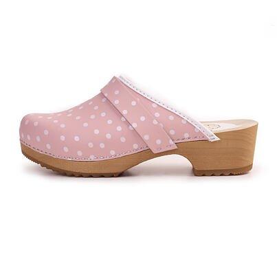 Women's anatomical clogs - Pink Polka Dot