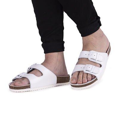"""Papuci anatomici de plută """"Max"""" - alb"""