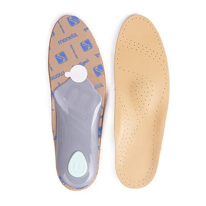 Anatomical leather insoles
