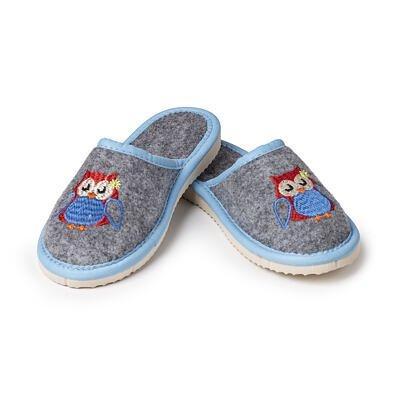 """Kid's felt slippers """"Owl"""""""