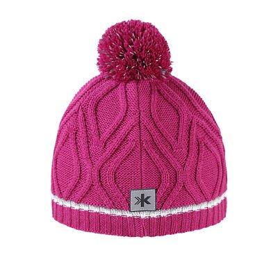 Detská pletená čiapka Merino Kama B90 Ružová