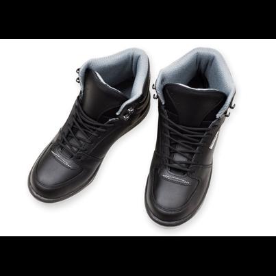 Încălțăminte de iarnă căptușită din piele Prestige neagră  Negru