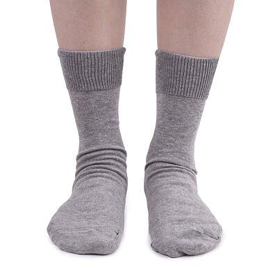 Pamut zokni lazább szegéllyel - világos szürke  Világosszürke