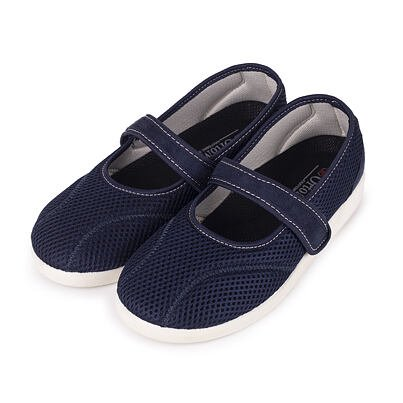 Women's comfort velcro ballerinas -  Blue