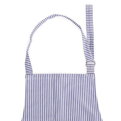 Kuchynská zástera prúžok modrá