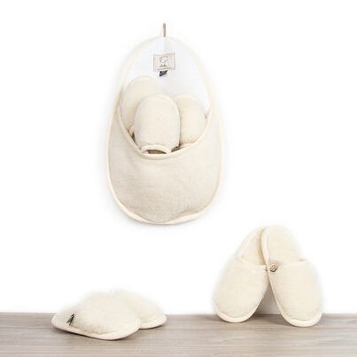Set of slippers for guests -  Natural
