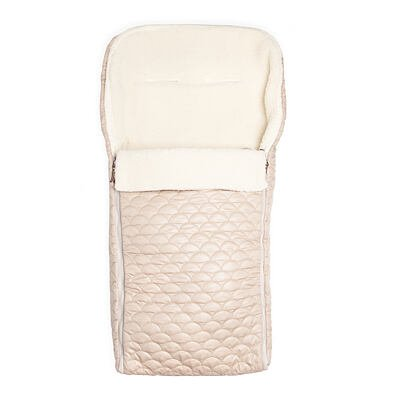 Bunting Bag with sheep wool - Cream