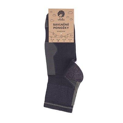 Cotton Sport Socks -  Gray