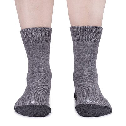 Ovčí ponožky Merino se zdravotním lemem 3 páry tmavě šedá