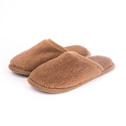 Papuci de casă din lână - maro