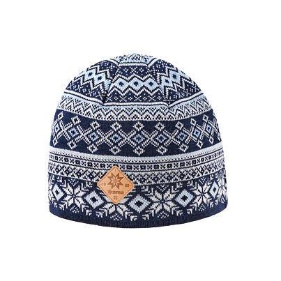 Pletená čiapka Merino Kama A142 tmavomodrá