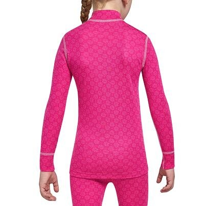Girl's Functional Merino Shirt with zipper XTREME THERMOWAVE -  Pink
