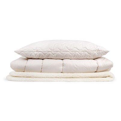 Prémiová zimná prešívaná posteľná súprava s prestieradlom