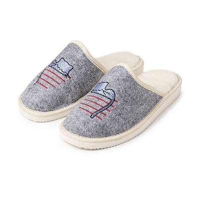 """Papuci de casă din pâslă cu lână de oaie pentru femei """"pisicuță"""""""