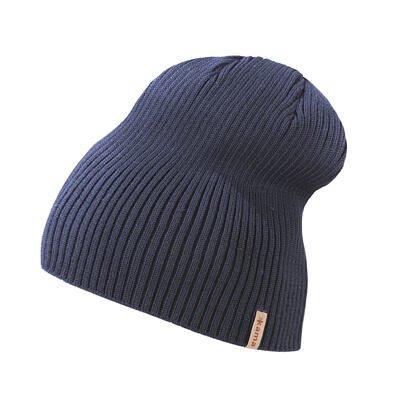 Knitted Merino hat Kama A148 - Dark Blue / Navy