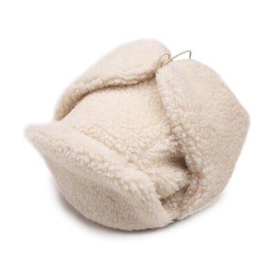 Sapka birka gyapjúval - természetes