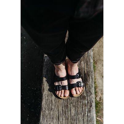 "Men's anatomical cork slippers ""Alex"" -  Black"