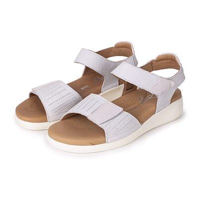 "Women's leather wedge sandals ""Leona"" -  White"