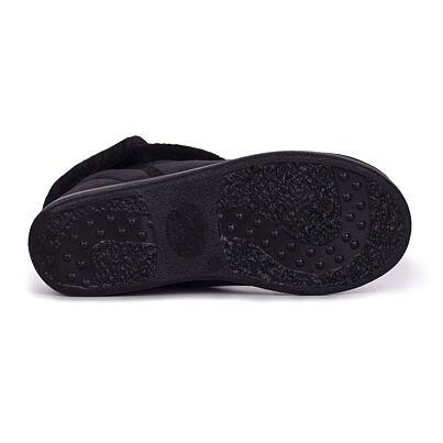 Dámske členkové zimné topánky s ovčou vlnou Lucia čierna