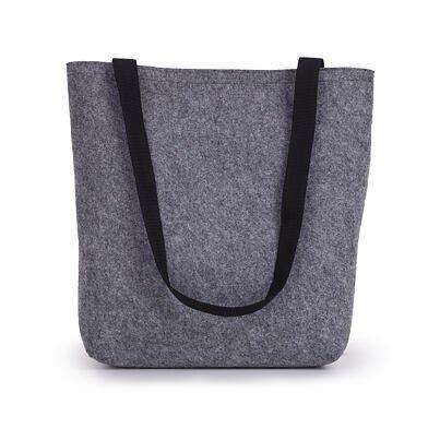 Filc táska hosszú táskafülekkel - fekete