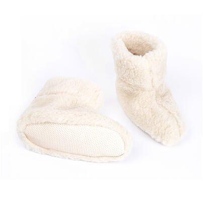 Wool TV slipper boots - Natural