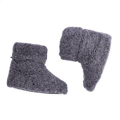 Wool TV slipper boots - Dark Gray
