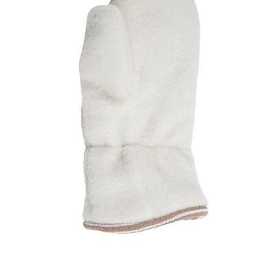 Mănuși cu un deget copii Merino - alb