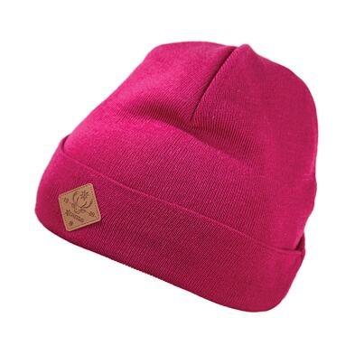 Pletená čepice merino KAMA K50 tmavě modrá