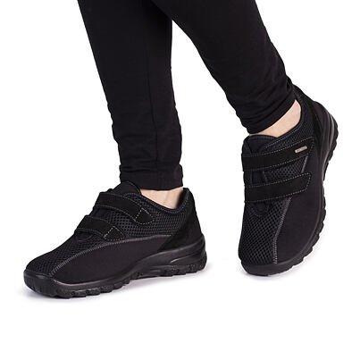 Teniși ortopedici pentru femei cu Velcro  Negru