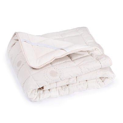 Premium woolen quilted mattress protector