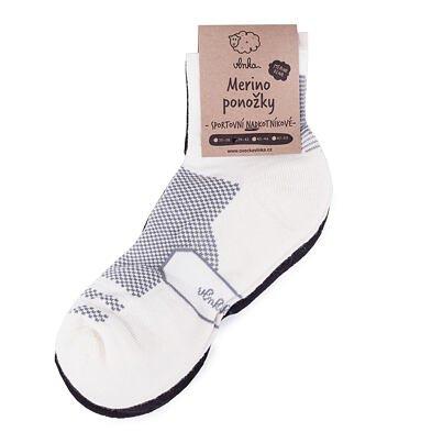Športové ponožky Merino nadkotníkové 2 páry