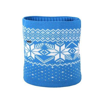 Double-Sided Knitted Merino Neckwarmer KAMA S30 - / Turquoise  Cyan