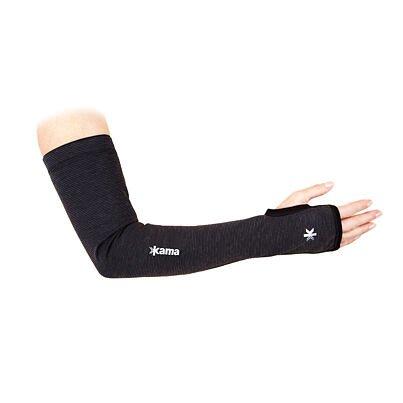 Ujj nélküli sport kézmelegítő Kama Tecnowool N01 - Fekete