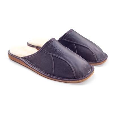 Pánske kožené papuče s ovčou vlnou Jozef