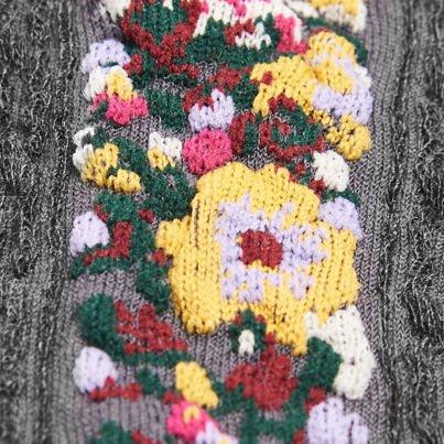 Bavlnené ponožky folklór  tmavosivá