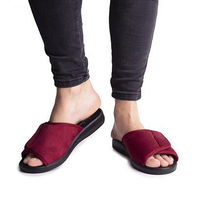 Dámské obvazové pantofle se suchým zipem červená